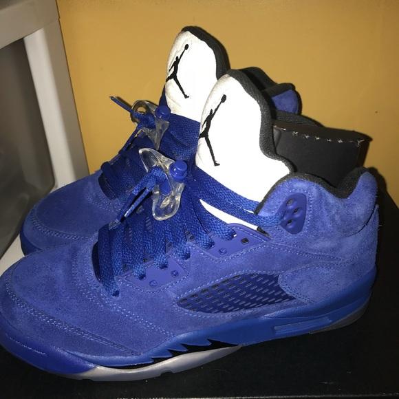 best website 91ebb 6b86b Blue Jordan Retro 5s